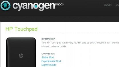 Alpha 0 von Cyanogenmod 9 für HPs Touchpad