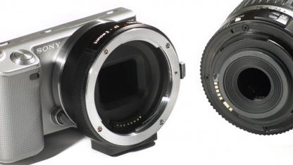 Adapter für Canon-Objektive an Sony NEX