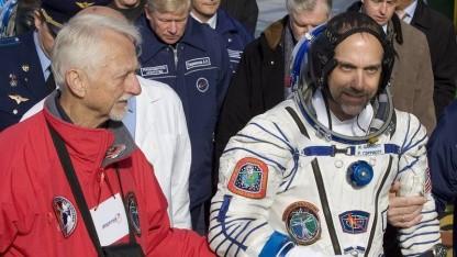 Vater und Sohn Garriott 2008: erster raumfahrender Sohn eines Raumfahrers