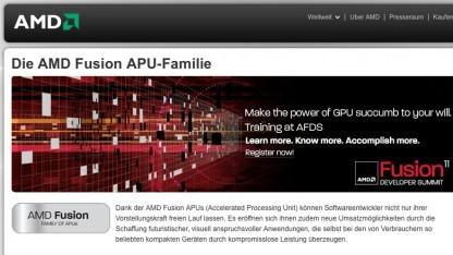 AMD verwendet Fusion als Familiennamen für seine APUs.