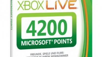 Prepaidkarte mit 4.200 Microsoft Points