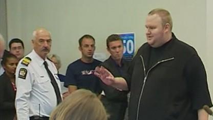 Kim Schmitz bei der ersten Kautionsanhörung