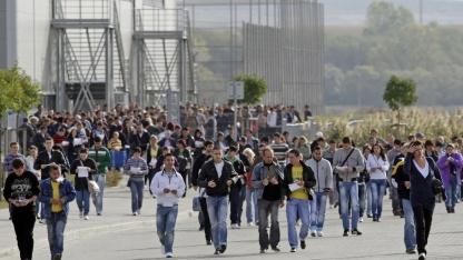 Nokia-Arbeiter in Cluj im September 2011