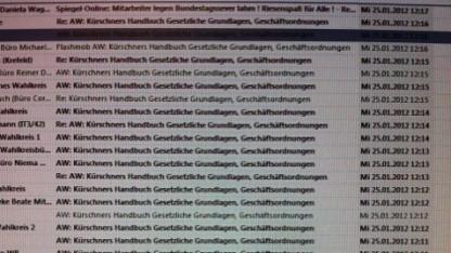 Volle E-Mail-Postfächer im Bundestag