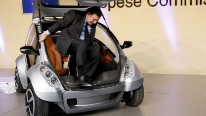 Hiriko: EU-Kommissionspräsident José Manuel Barroso durfte Probe sitzen.