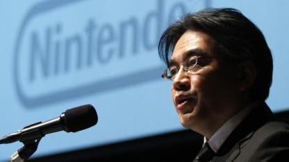 Satoru Iwata bei einer Bilanzpressekonferenz im Januar 2012 in Tokio
