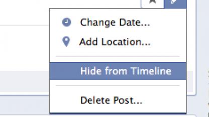 Facebook-Einträge lassen sich aus der Timeline ausblenden.