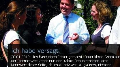 Gehackte Website von Ansgar Heveling
