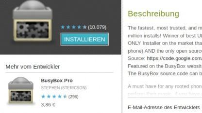 Busybox für Android steht unter der GPL.