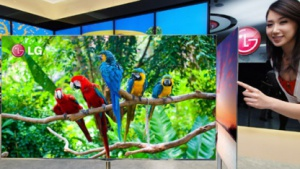 55 Zoll großer OLED-Fernseher ist nur 4 mm dick.