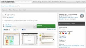 Libreoffice findet sich jetzt auch bei Sourceforge.