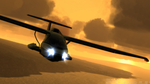 Flight bietet kleine Flugzeuge statt großer Passagierflugzeuge.