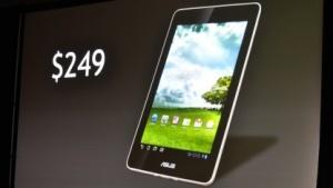 Nvidia zeigt das Asus-Tablet Memo 370T.