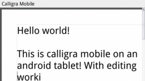 Freie Bürosoftware: Calligra auf Android portiert