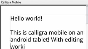 Calligra: Probleme mit QWidgets auf Android