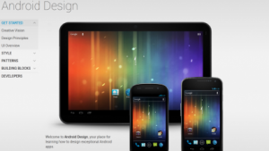 Googles Android-Design-Webseite