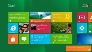 Benachrichtigung im Startbildschirm von Windows 8