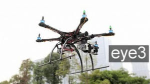 Eye3: Drohne landet auch mit vier Motoren sicher.