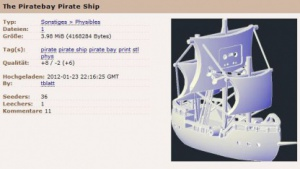 Physibles: Pirate Bay wird dreidimensional