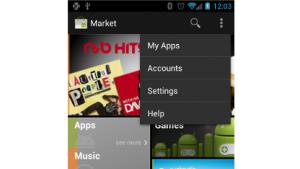 Action Overflow in der Actionleiste von Android 4.0