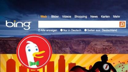 Bing, Blekko und DuckDuckGo