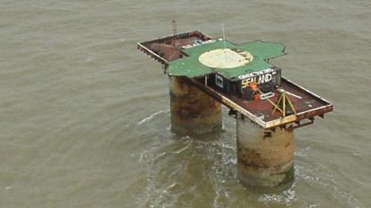 Möglicher Server-Standort? Sealand vor der Küste Großbritannien, Foto von 1999