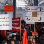 "Nokia Siemens Networks (NSN): Demonstranten wütend über ""Pfeifenladen""-Management"