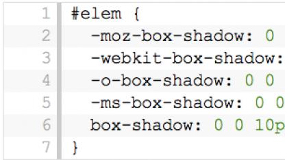 Hersteller-Präfixes blähen CSS-Code auf