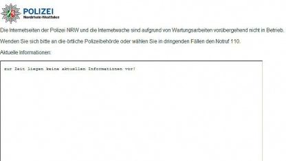Sicherheitslücke: Polizei-Webserver in Nordrhein-Westfalen seit Tagen offline