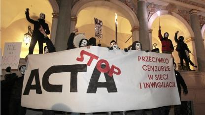 Anti-Acta-Proteste in Polen am 26. Januar 2012.