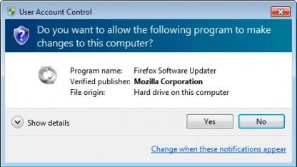 Ein Systemdienst soll sich um Firefox-Updates kümmern, bei nur eine einmalige Bestätigung nötig ist.