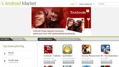 Keine kostenpflichtigen Anwendungen im Android Market in Taiwan