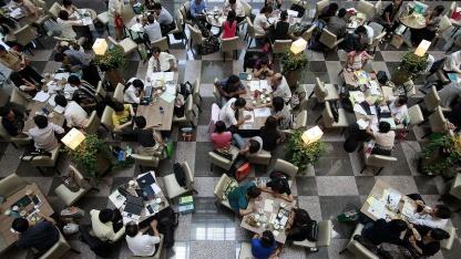 Amway-Beschäftigte in Taipeh im Jahr 2009