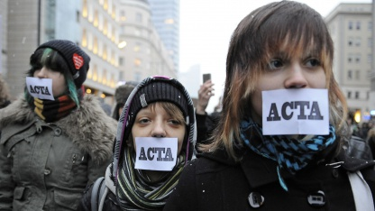 Anti-Acta-Proteste in Polen am 24. Januar 2012