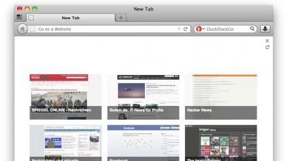 """Neue """"Neues-Tab"""" Seite für Firefox"""