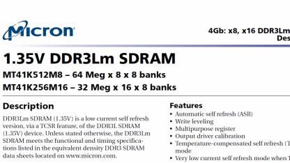 Auszug aus Microns Datenblatt zu DDR3Lm