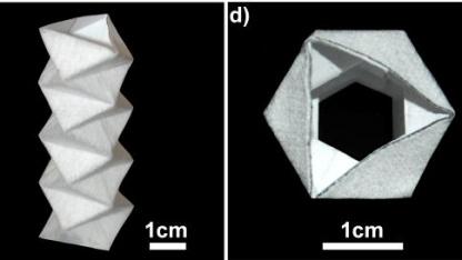 Origami-Aktor: Papier verleiht Form.