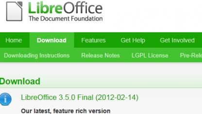 Libreoffice 3.5 ist da.