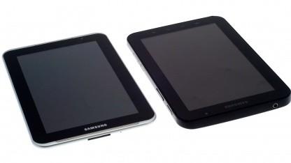 Das neue neben dem alten Galaxy Tab mit 7-Zoll-Bildschirm