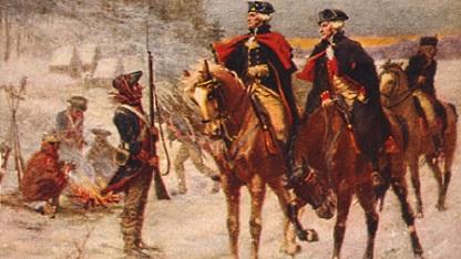 US-Unabhängigkeitskrieg: Washington und Lafayette, Gemälde von John Ward Dunsmore