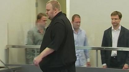 Kim Dotcom am 23. Januar 2012 vor Gericht in Auckland