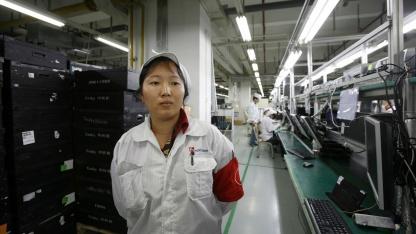 Foxconn-Arbeiterin He Jufen im Mai 2010