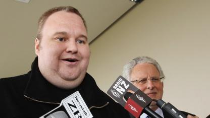 Kim Schmitz nach seiner Entlassung aus der Untersuchungshaft
