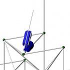 Multifunktional: Roboter baut Gerüst und fährt darauf herum