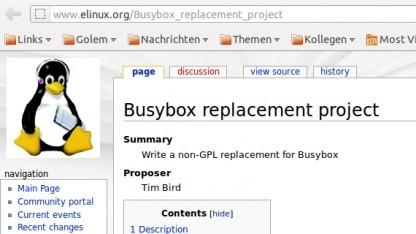 Aus Angst vor den Konsequenzen bei GPL-Verletzungen sollte eine Alternative zu Busybox her.