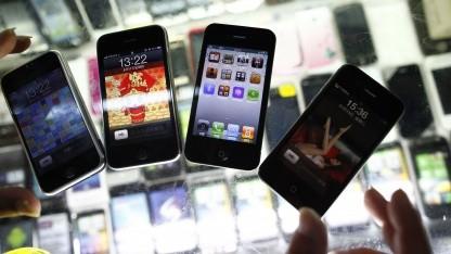 Nachgemachte iPhones in Schanghai im August 2011