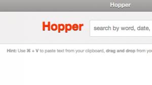 Hopper ist eine webbasierte Zwischenablage.
