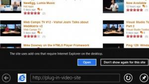 IE10 unterstützt Plugins nur auf dem Desktop.