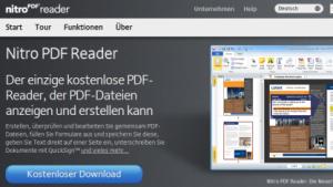 Nitro PDF Reader 2.2: PDF-Software mit besserer Windows-Integration