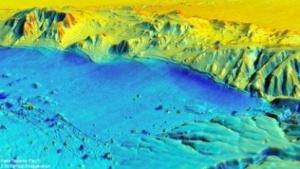 Karte des Erdbebengebietes: undokumentierte Verformungen des Bodens